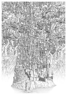 These Intricate Island Castle Drawings Will Make You Dizzy