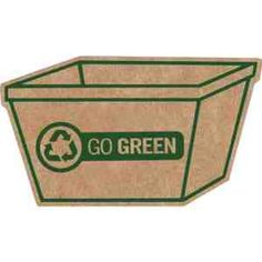 "Reduce, reuse and recycle with our recycling bin-shaped magnet! Measuring 1 7/8"" x 3 3/8"", this eco-friendly item features .075 mil thick magnetic backing and is composed of 70% strontium ferrite and 30% other recycled corrugated material!"