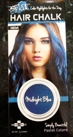 "Junovative: Temporary Hair Coloring for Asian Hair: Splat Hair Chalk ""Midnight Blue"""