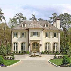 Gorgeous French Manor Cambridge Home with Circle Drive and Fountain