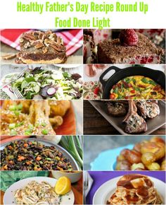 Healthy Father's Day Recipe Round Up www.fooddonelight.com