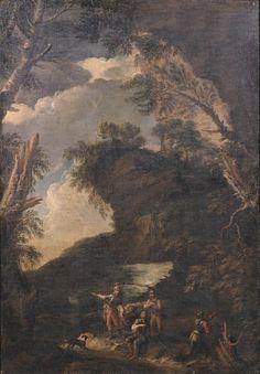 Salvator Rosa, seguace di - Paesaggio con alberi e soldati - 1680 circa - Accademia Carrara di Bergamo Pinacoteca