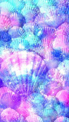 Sea floor seashells galaxy wallpaper I created for the app CocoPPa!