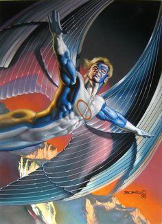 Boris Vallejo - Archangel - Trading card art Marvel Masterpieces 1996 series 5
