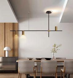 Dining Room Light Fixtures, Dining Room Lighting, Room Lights, Hanging Lights, Minimalist Home, Minimalist Design, Interior Design Inspiration, Home Interior Design, Painting Lamps