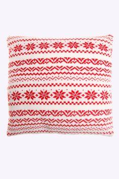 Nordic snowflake cushion