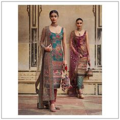 2019 Sabyasachi Charbagh Bridal Lehenga collection has a bunch of traditional red wedding lehengas, some gorgeous destination wedding outfits + lots more. Salwar Designs, Kurta Designs Women, Kurti Designs Party Wear, Indian Gowns, Indian Attire, Indian Ethnic Wear, Pakistani Dresses, Indian Outfits, Punjabi Dress