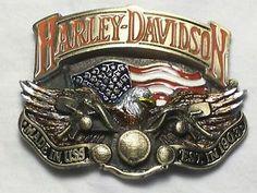 Harley Davidson - Eagle Flag Bike Front Belt Buckle. Available at my Ebay  Page. 695b7655581