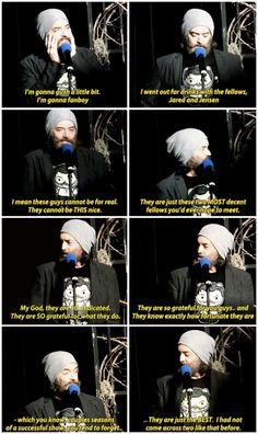 """They are just the best. I had not come across two like that before."" - Timothy Omundson being so impressed by Jared and Jensen (VegasCon2015) - Time after time we hear the same wonderful things about Jensen and Jared <3"