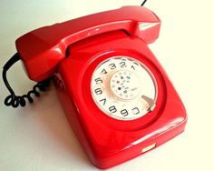 Rare Vintage Red Telephone  Iskra ETA 62  Made in by Lunartics, €65.00