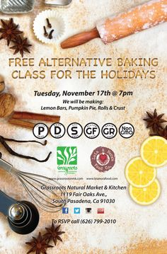 Free Alternative Baking Class for the Holidays