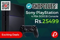 Shopclues #Exciting #Deals is offering 23% off on Sony PlayStation 4 PS4 500GB Console at Rs.25499 Only.   http://www.paisebachaoindia.com/sony-playstation-4-ps4-500gb-console-at-rs-25499-only-shopclues/