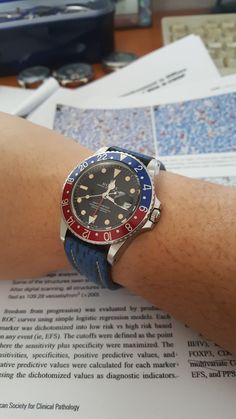 Gmt master with blue leather