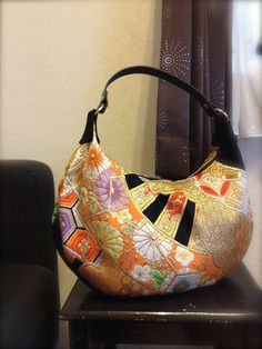Obi / Kimono / Bag / BK464 Beautiful Embroidery by RummyHandmade, $70.00