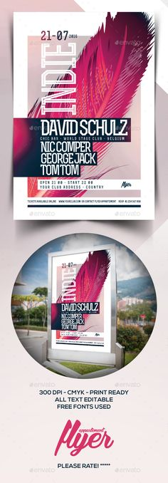 INDIE Flyer Template PSD. Download here: http://graphicriver.net/item/indie-flyer/15829569?ref=ksioks