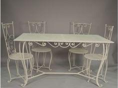 Table en métal fer forgé Darlington http://www.maisondunreve.com ...