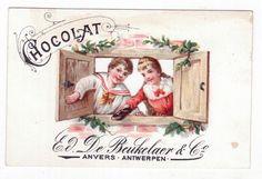 Chromo Publicitaire Ajouré - Chocolat De Beukelaer Anvers - Enfant - fillette