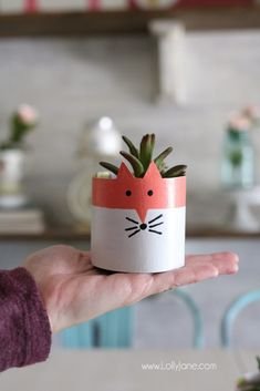 Make your own succulent planters with a few supplies and a cereal box! So chic and easy to make, great kids craft too!