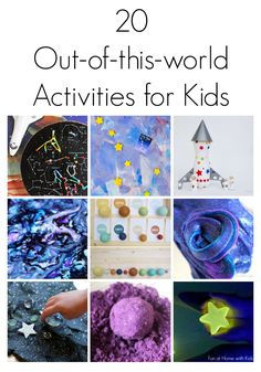 20 Outer Space Themed Activities for Kids from Fun at Home with Kids