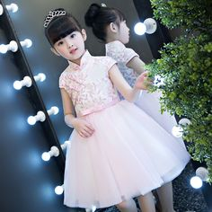 2017 New Beautiful Chinese Traditional Girls Kids Pink Cheongsam Princess Embroideried Flowers Birthday Wedding Pageant Dresses Cheongsam, Pageant Dresses, Pink, Girl Outfits, Flower Girl Dresses, Halloween, Alibaba Group, Wedding Dresses, Birthday