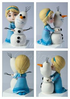 Young Elsa And Olaf Frozen Topper