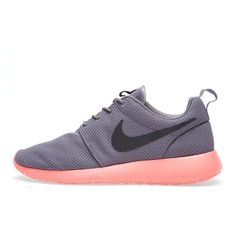 Nike Roshe Run Soft Grey/Midnight Fog ❤ liked on Polyvore featuring shoes, sneakers, nike, roshe run and trainers