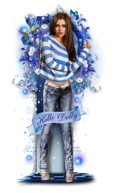 """☆Dolly Blue☆"" by cindu12 ❤ liked on Polyvore featuring art"