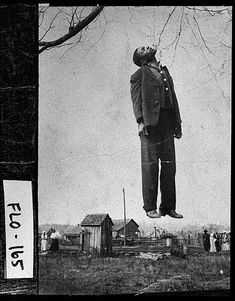 Black man hanging from a tree, Floyd County area - Lynching in the United States 18 Best of Web Shrine