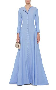 The Franciscan Long Button Up Dress by ROSIE ASSOULIN Now Available on Moda Operandi