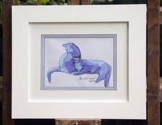 The Creative Cat - Framed Original Sketches On Their Way