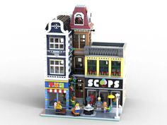 Dream Ice Cream, Skateboard Shop, Lego Boards, Lego Modular, Cool Lego Creations, Shopping Street, Lego Architecture, Gumball Machine, Lego Creator