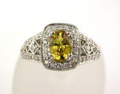 Stunning Yellow Sapphire and Diamond Ring @LarcJewelers #larcjewelers