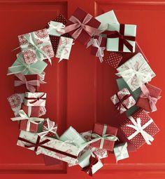 "DIY ""Present"" wreath"