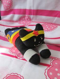 Wonder Woman Plush Kitten by ThatCreativeFox on Etsy, $20.00