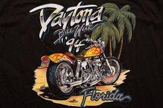 1994 Daytona Beach Bike Week T-Shirt, Vintage 1990s, Miller's Custom Parts, Harley-Davidson Motorcycles, Biker Graphic Tee, Florida