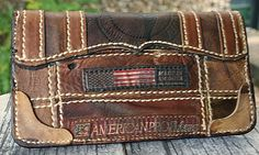 Custom Wallets & Other Badass Gear For The Guy Who Thought He Had Everything Leather Notebook, Leather Books, Leather Journal, Mens Long Leather Wallet, Custom Wallets, Custom Leather, Handmade Leather, Leather Projects, Leather Crafts
