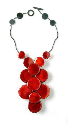 Daniel Kruger | Necklace: Untitled 2010  Enamel on copper, silver