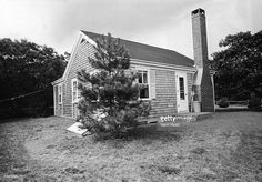 Exterior view of the cottage where American Senator Ted Kennedy and friends held a party on the evening of July 18, 1969, after which Kennedy was involved in a car crashed that resulted in the death of Mary Jo Kopechne, Chappaquiddick Island, Massachusetts, late 1969.