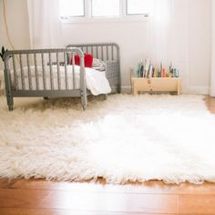 everything you need to know about a Greek Flokati rug! these rugs are perfect for a nursery or kids space!