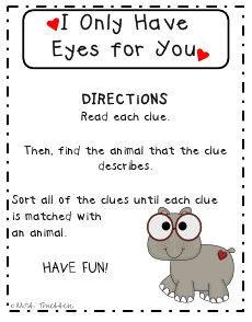 I only have eyes for you reading game