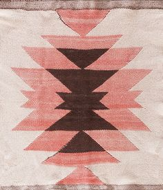 Antique American Navajo Tapestry Textile, circa Shades of Pink Colorstory Textiles, Textile Patterns, Print Patterns, Native American Rugs, Native American Patterns, Impression Textile, Navajo Rugs, Navajo Weaving, Fiber Art