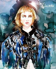 Marc Jacobs : Fashion Week Illustrated: Artist Samantha Hahn's Painted Take On the NYFW Runways : Lucky Magazine
