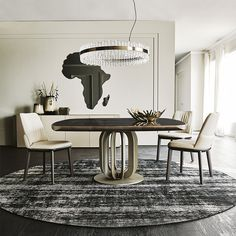 The Soho dining table by Cattelan Italia is a square table with the top made from ceramic with a brass edge. The table sits on a pedestal base available in 3 different colours. Italian Furniture, Luxury Furniture, Furniture Design, Dining Table Online, Round Dining Table, Dining Area, Stone Floor, Contemporary Living, Decor Interior Design