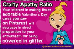Crafty Apathy Ratio ... Or why doing #crafts with kids is really a pain in the ass. #humor #funny