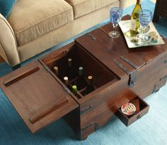 A multitasking trunk has storage for all your entertaining needs