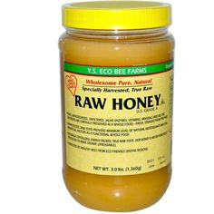 Y.S. eco bee farms, raw honey, lbs g) Healthy Food List, Super Healthy Recipes, Healthy Foods To Eat, Whole Food Recipes, Dessert Recipes, Honey Uses, Raw Honey, Bee Farm, Lemon Coconut