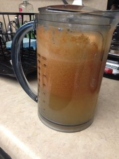 Not a lot of juicing fruits left so I had to make due with 2 carrots, 1 cucumber, 1 lemon, 6 apples, 2 kiwis and one pear.  I call it the....  Bare Minimum    Yuuuuuuum!!!!