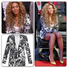 NBA All-Star Weekend Celebrity Style Beyonce Was Spotted