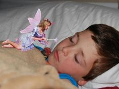Upload a picture of your sleeping child, and print it out with proof the Tooth Fairy was there!