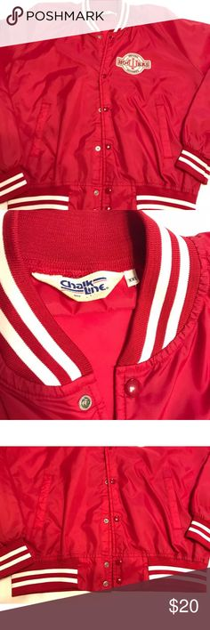 Vintage Chalk Line Satin Jacket Indiana Hoosiers Excellent condition. The buttons are still nice and glossy. Made in USA. It's an XXL but it fits a little smaller, more like a L/XL. There is no lining to this jacket. So, it is thin like a windbreaker. Chalk Line Jackets & Coats Bomber & Varsity